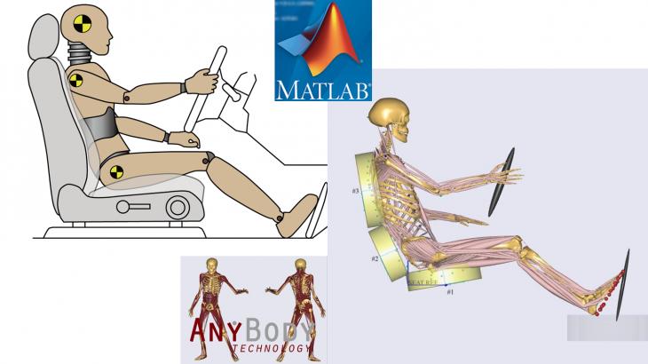 経産省自動車MBD(モデルベース開発) 車両振動モデルとAnyBodyの連携解析