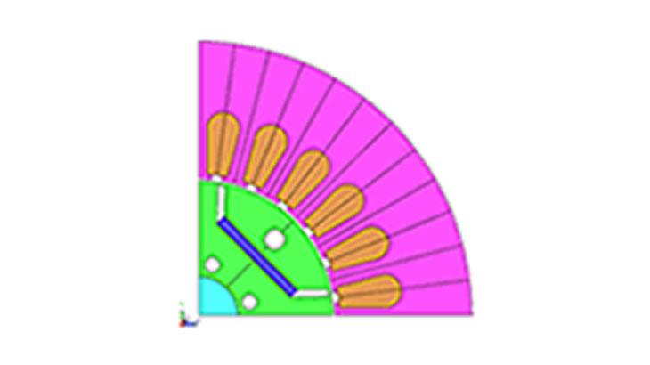 IPM構造モータの形状最適化事例