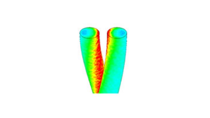 ヨリ線の周波数特性解析