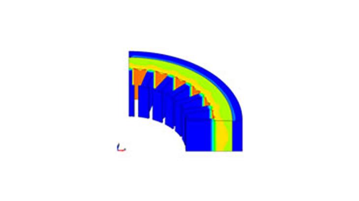 焼き嵌めによる残留応力を考慮したモータの磁界解析