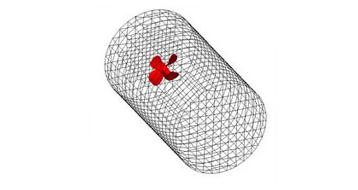 プロペラの回転によるキャビテーション発生実験