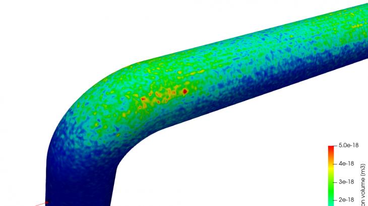 粒子追跡法による曲がり管路の懐食量評価