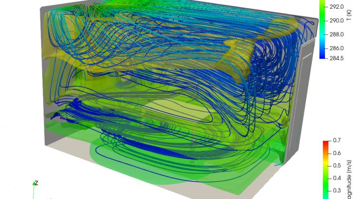 熱ふく射モデルを用いた室内環境解析