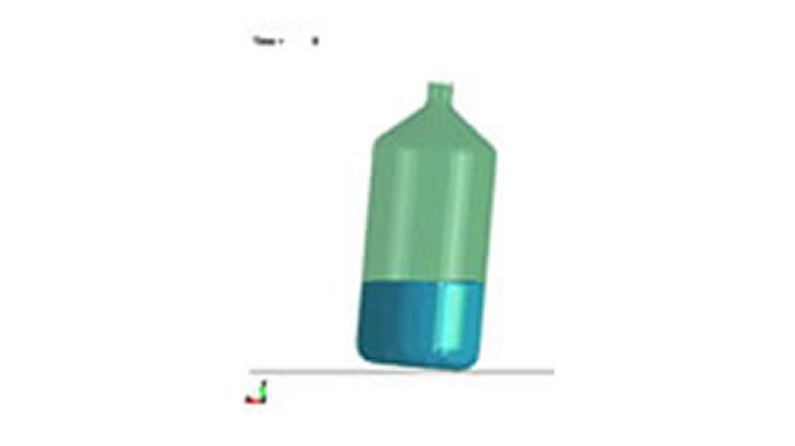 ALE及びS-ALEによる水入りボトル落下解析
