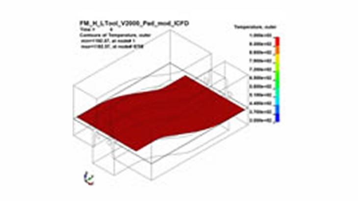 冷却水の流れを考慮したホットフォーミング解析