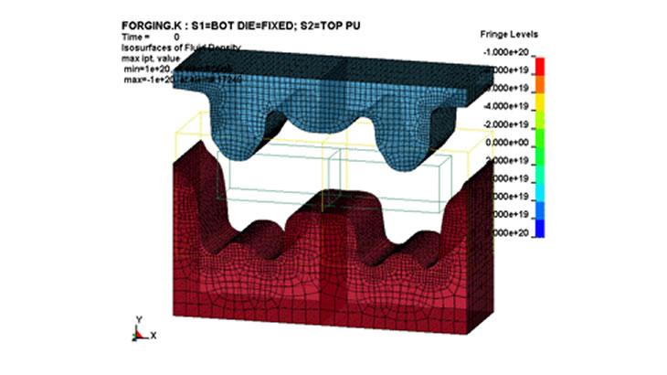 Euler座標系による鍛造解析例